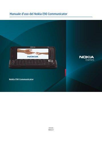 Manuale d'uso del Nokia E90 Communicator