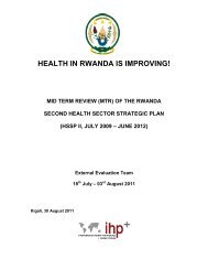 Rwanda MTR 2011 - International Health Partnership