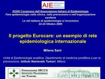 Il progetto Eurocare: un esempio di rete epidemiologica internazionale