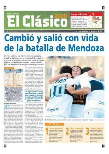 1 2 3 Cambió y salió con vida de la batalla de Mendoza - Diario Hoy