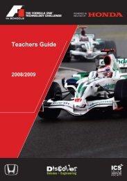 Teachers Guide - F1 in Schools