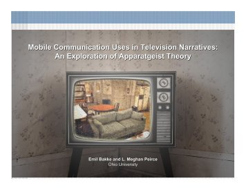 Mobile Communication Uses in Television Narratives ... - LIRNEasia
