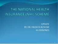 THE NATIONAL HEALTH INSURANCE SCHEME ... - CORE Group