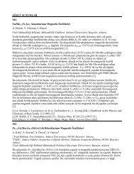 Sözlü Sunumlar - Department of Physics - Middle East Technical ...