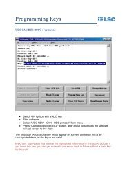 Key Programming UDS CAN 2009+