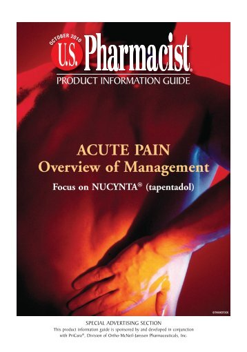 ACUTE PAIN Overview of Management - U.S. Pharmacist