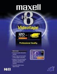 Hi8 Videotape - Maxell Canada