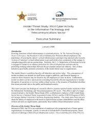 The Insider Threat Study: - United States Secret Service