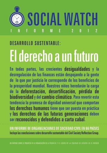 El derecho a un futuro - Social Watch