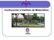 Conhecendo o Instituto de Matemática. - Laboratório de Matemática ...