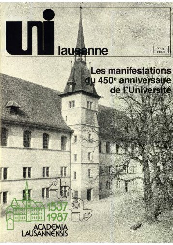 ¡1 - Université de Lausanne