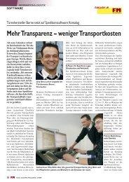 Mehr Transparenz – weniger Transportkosten