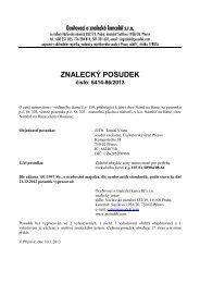 ZNALECKÝ POSUDEK číslo: 6414-86/2013 - e-aukce