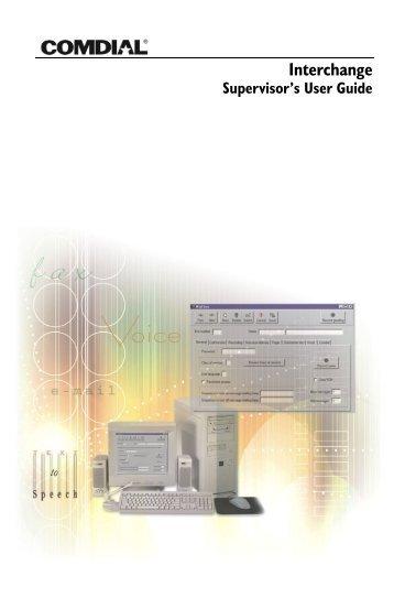 Interchange Supervisor's User Guide - Vertical