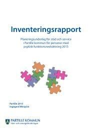 Inventeringsrapport - psykisk funktionsnedsättning - Partille kommun