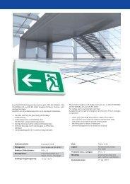 Kunststoff-LED-Rettungszeichenleuchte gem. DIN EN 60598-1, DIN ...
