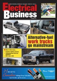 work trucks - Electrical Business Magazine