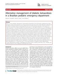 Alternative management of diabetic ketoacidosis - Diabetology ...