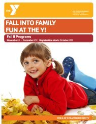 Fall I Program Brochure - YMCA of Greater Manchester