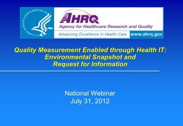 measurement - AHRQ National Resource Center; Health Information ...