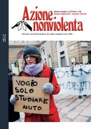 Gennaio-Febbraio 2011 - Movimento Nonviolento