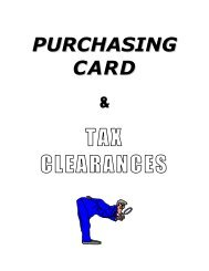 Part 5 - Purchasing Card & Tax Clearance