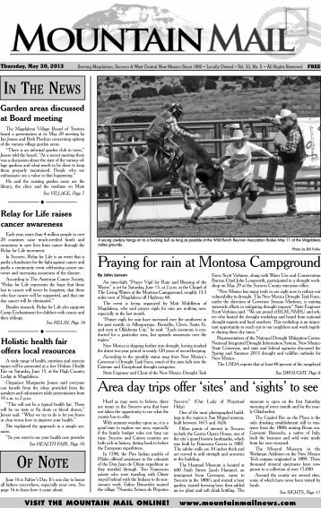 Praying for rain at Montosa Campground - Mountain Mail News
