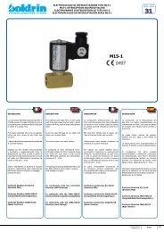 ELETTROVALVOLE DI INTERCETTAZIONE TIPO M15-1 ... - Watergas