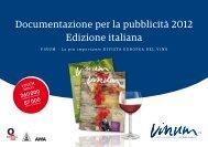 Documentazione per la pubblicità 2012 Edizione italiana