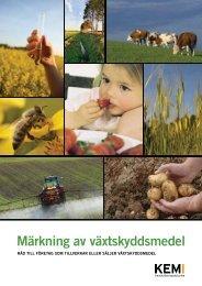 Märkning av växtskyddsmedel - Kemikalieinspektionen