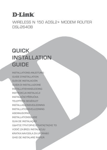installation - D-Link   Technical Support   Downloads