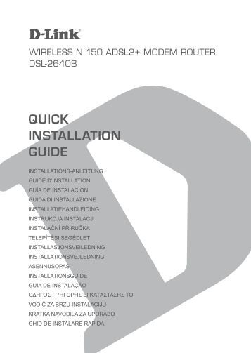 installation - D-Link | Technical Support | Downloads