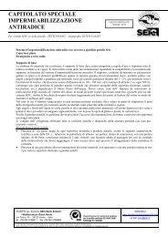 capitolato speciale impermeabilizzazione antiradice - Harpo spa