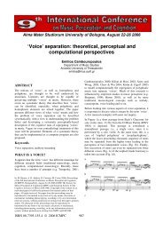 'Voice' separation: theoretical, perceptual and ... - Prof. Marco Costa