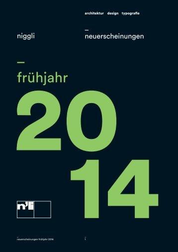 _ frühjahr - Niggli Verlag