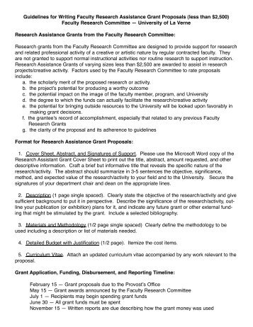 how to make a research grant proposal