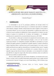 SEGMENTACIÓN DEL MERCADO DE TRABAJO EN ... - ASET
