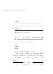 NUMERO ESCRITURA DE CONSTITUCION DE SOCIEDAD ...
