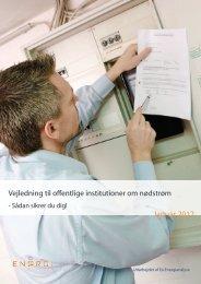 Vejledning til offentlige institutioner om nødstrøm - Ea Energianalyse
