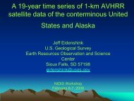 A 19-year time series of 1-km AVHRR satellite ... - US Drought Portal