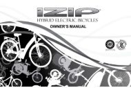 2010 iZIP Bicycle Owners Manual - Bicycle Center of Seattle