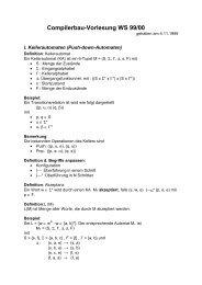 Compilerbau-Vorlesung WS 99/00 - dbis