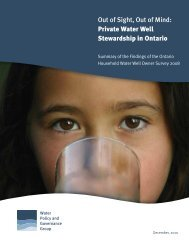 Private Water Well Stewardship in Ontario - Water Policy and ...