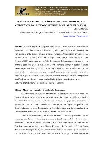 Maicon Mariano - X Encontro Estadual de História – ANPUH-RS