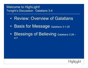 Galatians 3-4 (3.6.08)