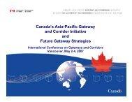 Canada's Asia-Pacific Gateway and Corridor Initiative and Future ...