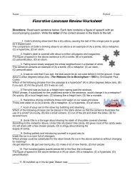 Figurative Language Review Worksheet - Reeths-Puffer Schools