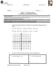 Etapa 4: 4.1 Introducción a la geometría analítica - Preparatoria 22