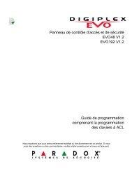 EVO : Guide de programmation - iMotion Sécurité
