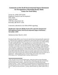 Comments on the Draft Environmental Impact Statement for ...